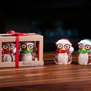 Holiday Owl Salt & Pepper Set
