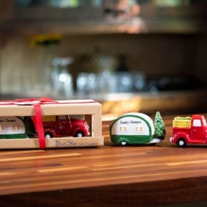 Red Truck And Camper S&P Set
