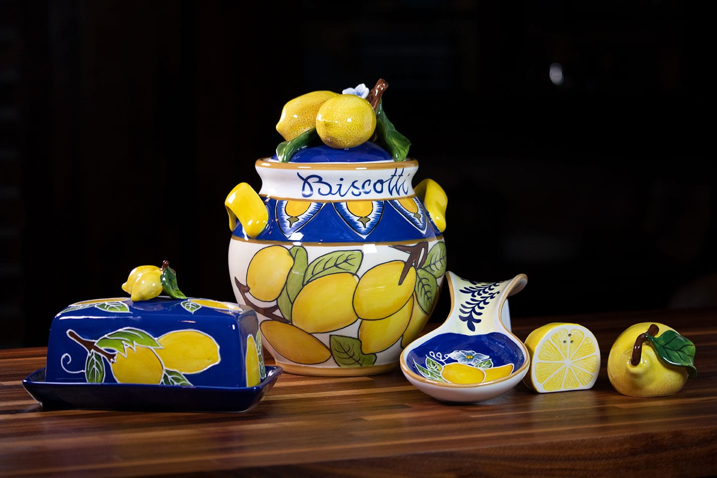 Clayworks Lemon Kitchen Decor - Blue Sky