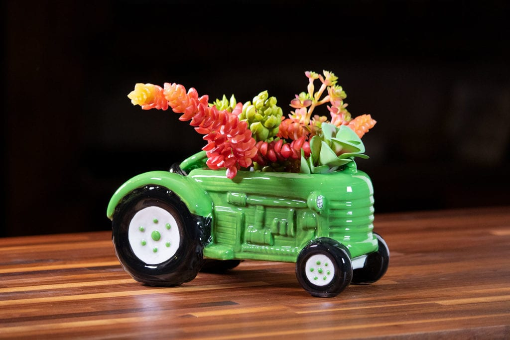 Green Tractor Planter