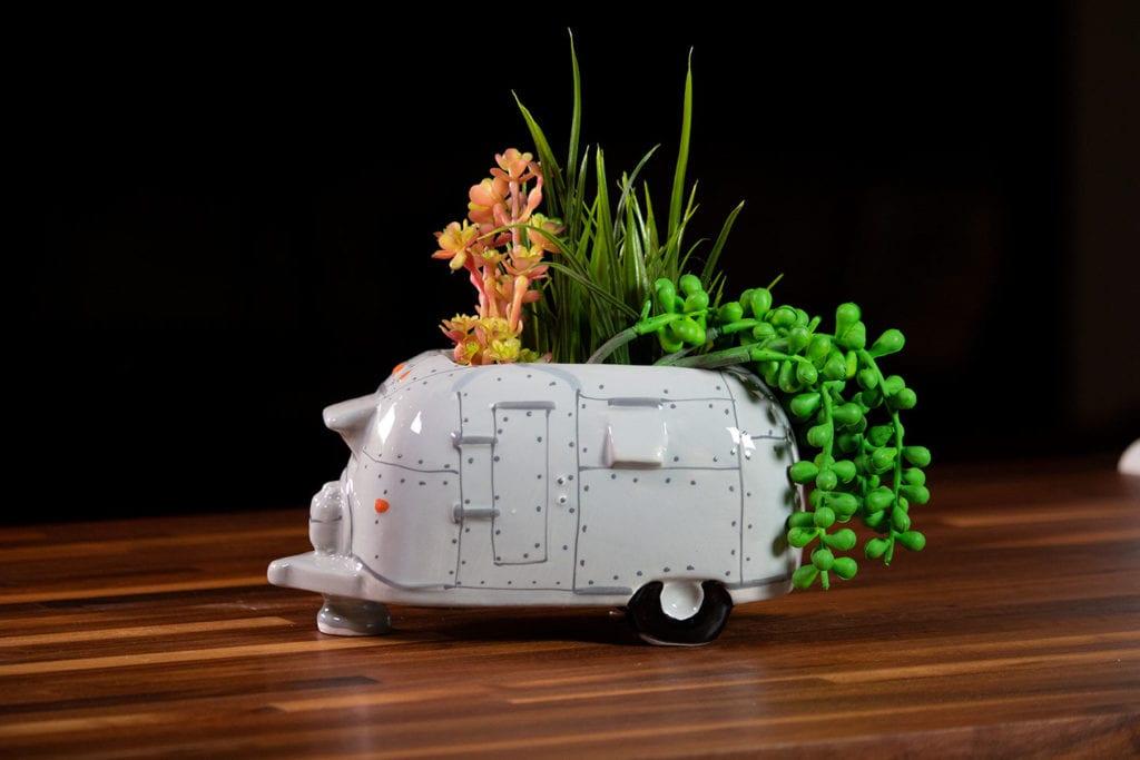 Airstream Camper Planter