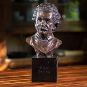 Albert Einstein Bronze Decor Bust