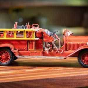 Metal Fire Engine - Large