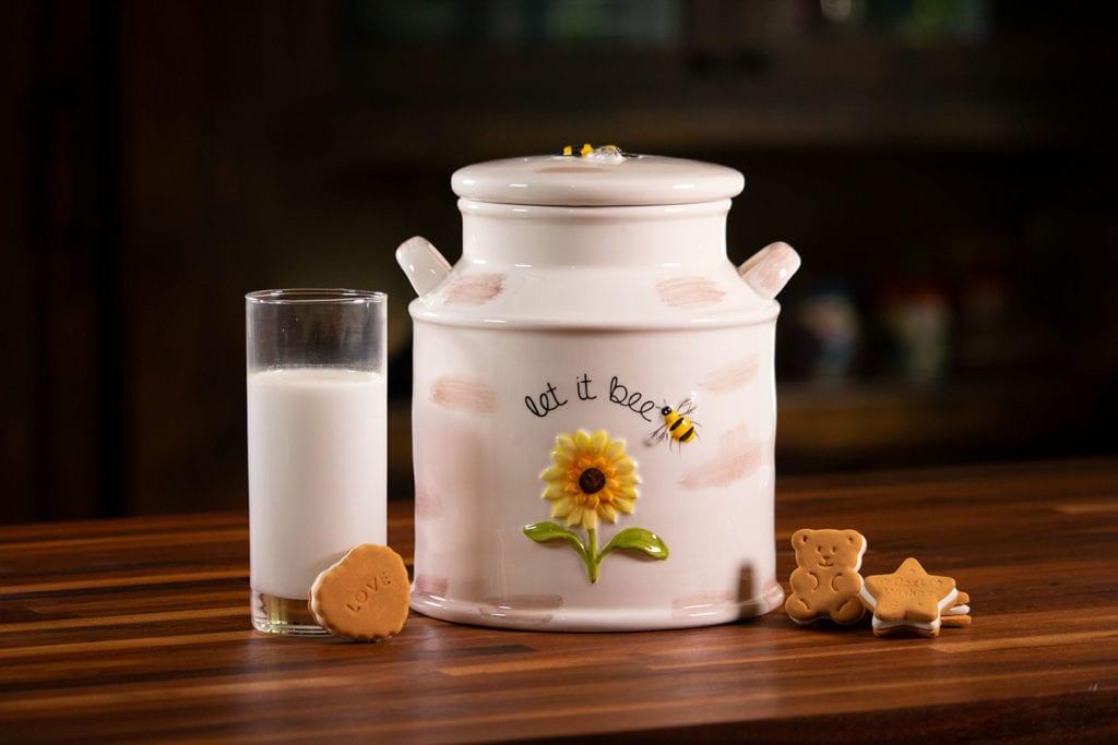 Hello Yellow Cookie Jar