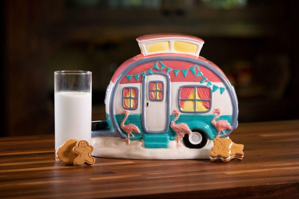 Flamingo Camper Cookie Jar
