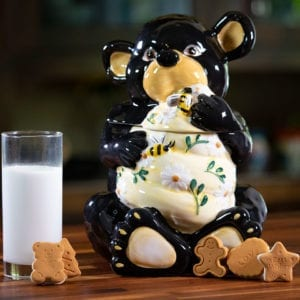 Bear Hive Cookie Jar