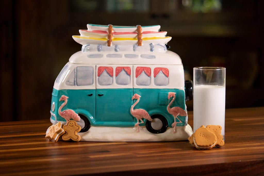 Flamingo Camp Van Cookie Jar