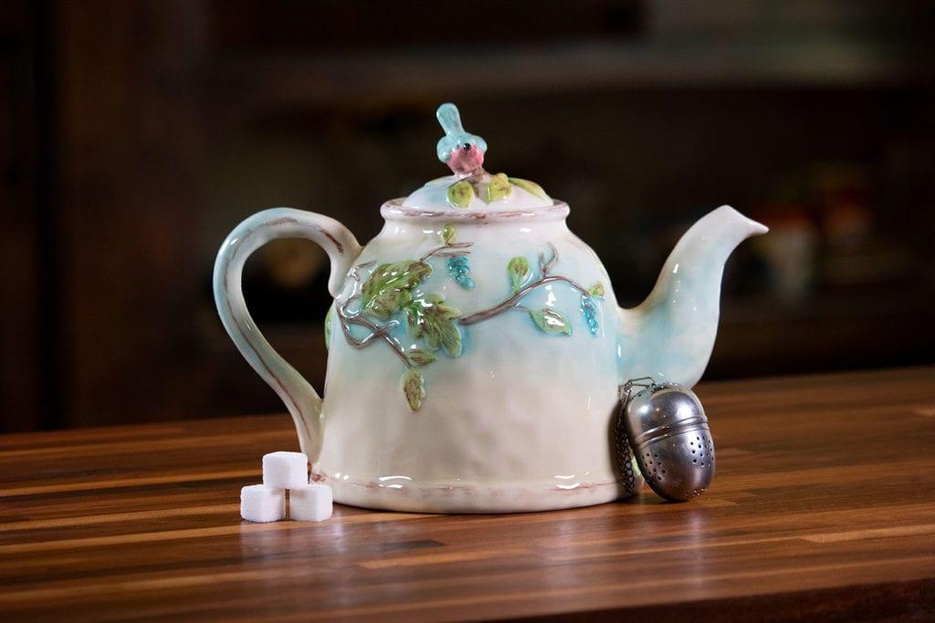 Woodcut Farmhouse Teapot
