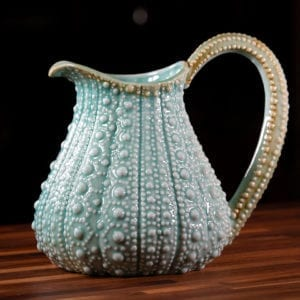 "Turq Urchin 10"" Pitcher"