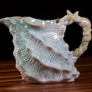 Shell Figural Pitcher Blue