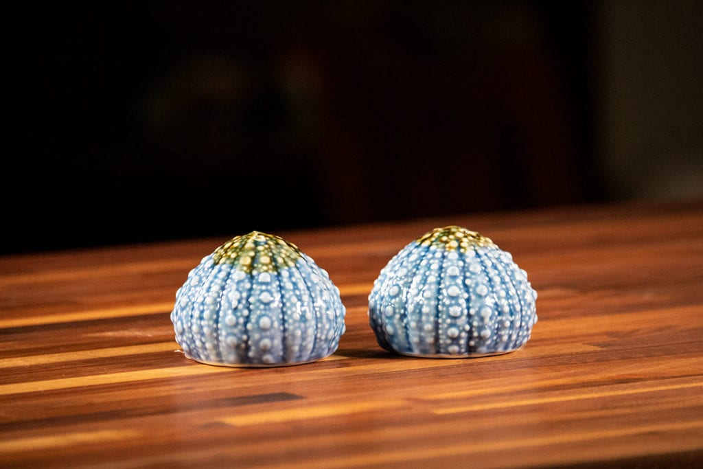 Blue Urchin Box Salt & Pepper