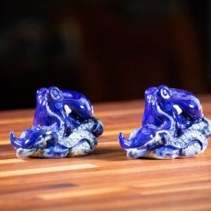 Blue Octopus Salt & Pepper Set
