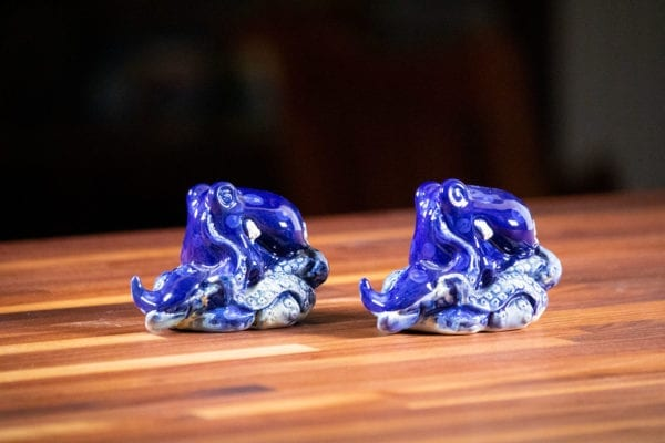 Blue Octopus Salt & Pepper Set