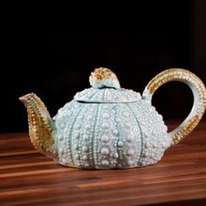 Turq Urchin Teapot