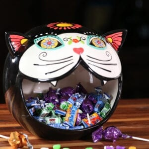 Sugar Cat Head Candy Bowl