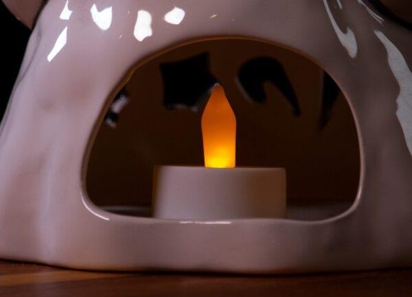 Halloween Ghost Tealight - Large - Back
