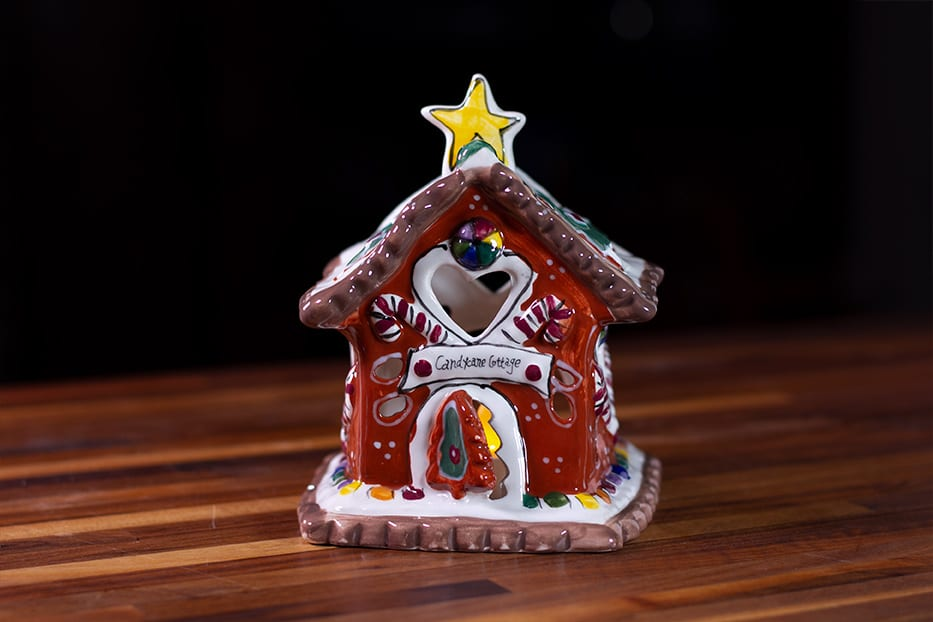 Candy Cane Bungalow Candle House