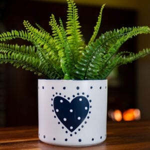 "Country Heart Flower Pot 6.5"""