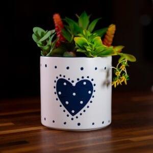 Country Heart Flower Pot