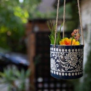 "China Charm Flower Pot 5"" Hanging"