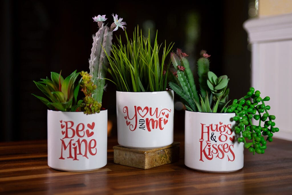 "Be Mine Planters 4"""