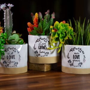 Love Grows Here Planters