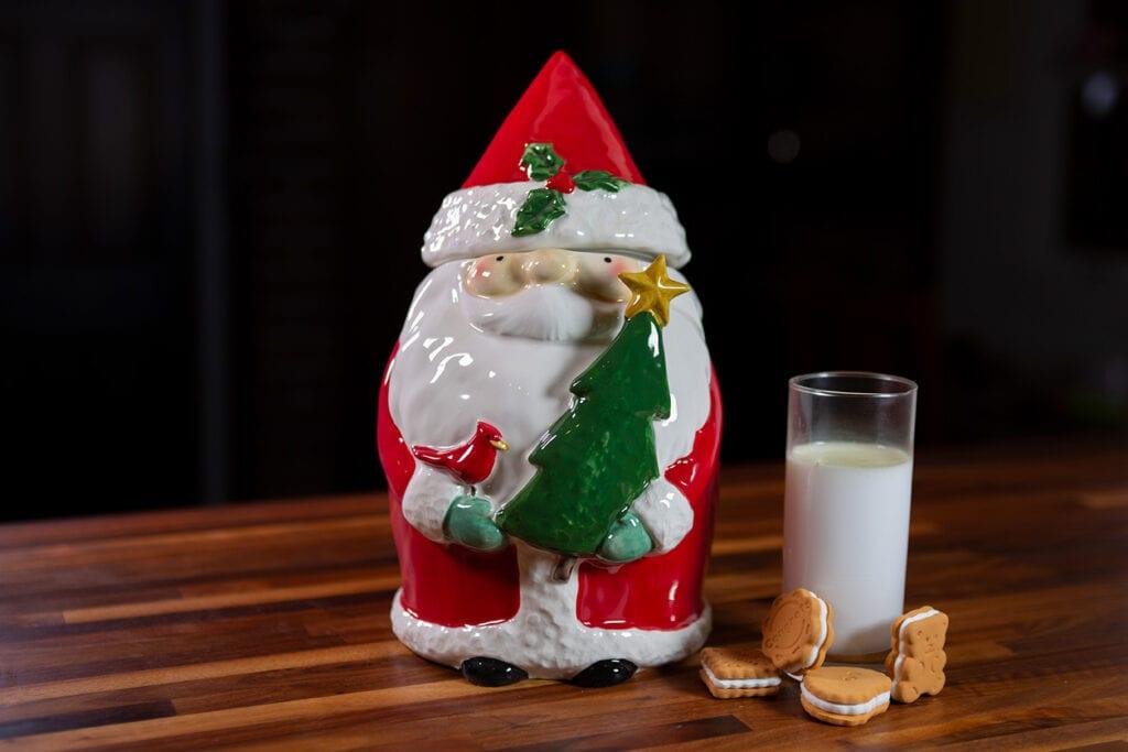 Santa Holiday Cookie Jar