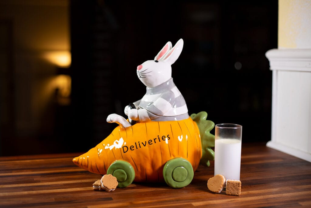 Bunny Carrot Cookie Jar