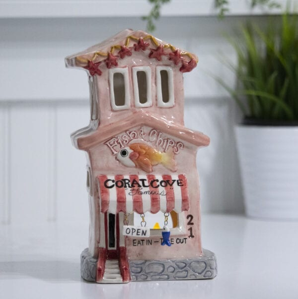 CORAL COVE FISH CHIPS CANDLE HOUSE