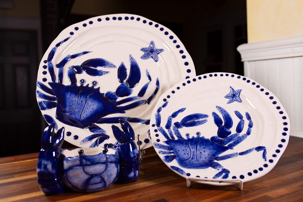 Blue Crab Dinner Set