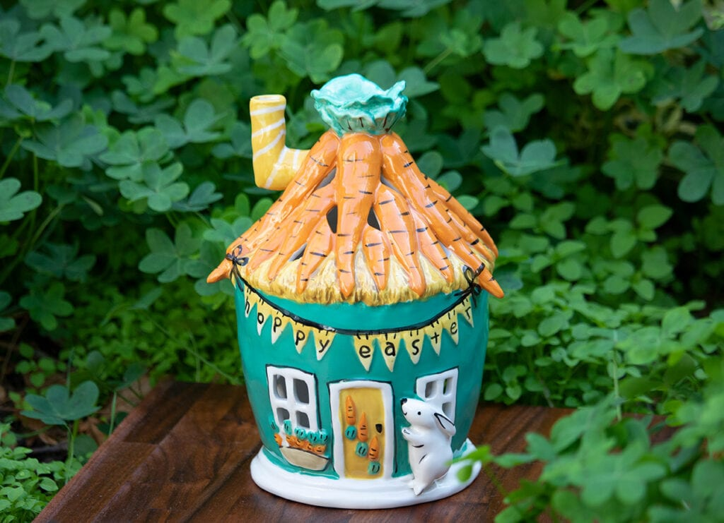 CARROT BUNNY CANDLE HOUSE