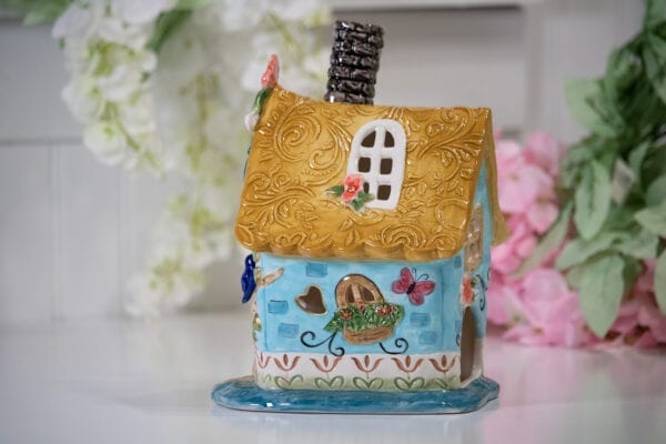 OUR NEST BLUE CANDLE HOUSE