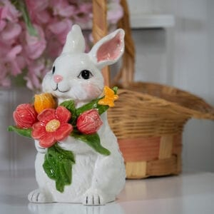 BLOSSOM VALLEY FLORAL BUNNY FIGURINE