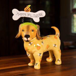 HAPPY HALLOWEEN DOG FIGURINE